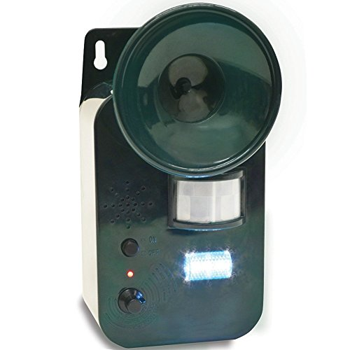 Jobar International Ultra Sonic Pest Repeller With Strobe Light - Repels Skunks, Rodents & - Strobe Squirrel Light