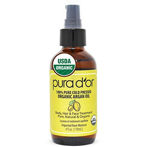 PURA-DOR-Organic-Oil-4oz-USDA-Certified-100-Pure-Natural-Moisturizer-Cold-Pressed-Unrefined-Hexane-Free-Base-Carrier-Oil-for-DIY-Skin-Care-Hair-Face-Nails-Packaging-may-vary