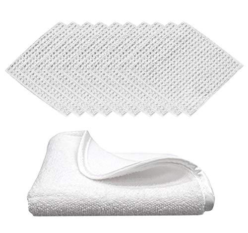 (10-Pack+Bonus) Premium 4x4 Waffle-Weave Microfiber Makeup Removal Kit | Excellent Quality Cloths + Bonus Luxury 8x8 Ultra Soft Facial Towel with Silky Satin Border - TRC Skin Care