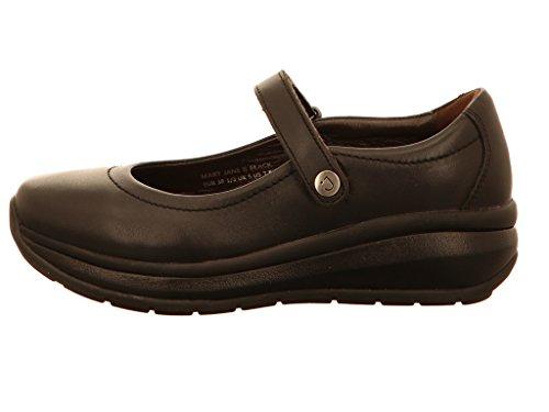 Joya Vrouwen Mary Jane 2 Lederen Schoenen Zwart
