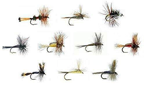 Balance World Inc Fly Fishing Assortment - 30 Dry Flies - 10 Patterns - Humpy, Blue Wing Olive +