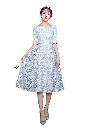 Drasawee Short 3/4 Sleeves Homecomig Dresses Slim Prom