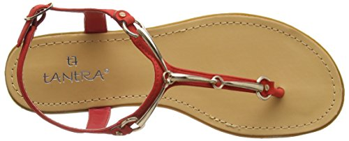 Red Buckle with Tantra Mujer Sandals Sandalias para Uwaqfx46