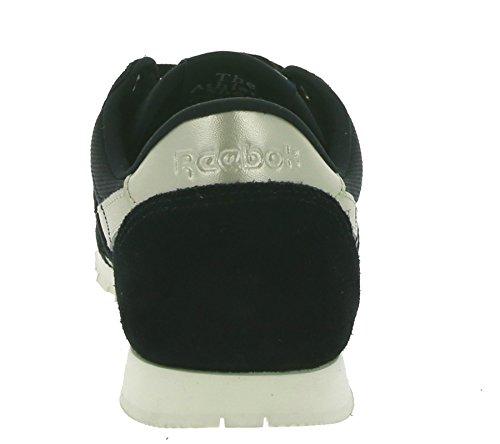 Donna oro Nero Reebok Grigio bianco Sneaker Slim Nylon Cl UqxwSat