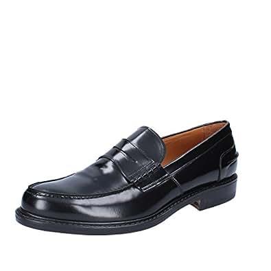 DI MELLA Mocasines de Piel Para Hombre Negro Size: 44: Amazon.es: Zapatos y complementos