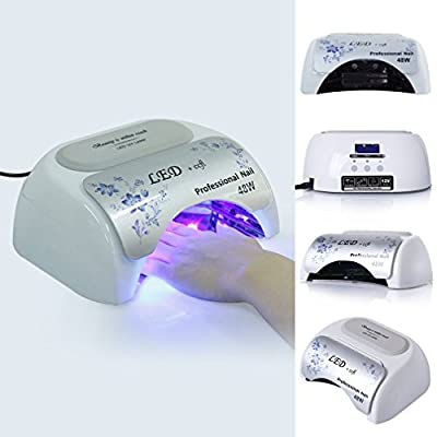 Elite99 Safe 48W LED UV Lamp Light, Art Nail Dryer & Automatic 3 Timer Modes,Suitable for Hands and Feet Manicure Tool