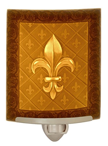 Fleur-de-lis Curved Porcelain Lithophane Night (Fleur Night Light)