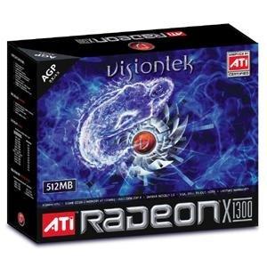 VisionTek Radeon X1300 512MB DDR AGP (VGA, DVI-I, TV-Out, HDTV)