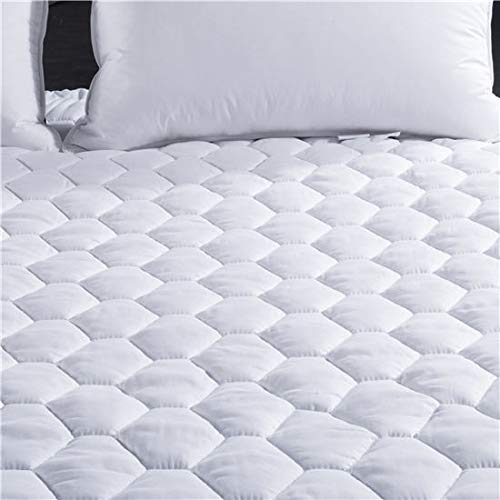 Full Mattress Topper Cool Cover, Cooling Dust Mite Proof Hypoallergenic Fabric - Luxury Overfilled Soft Down Alternative Quilted Stretches up to 16 inch Deep Fitted Mattress Pad Hotel Dorm Double Bed