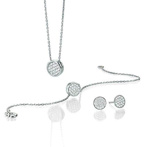Parure collier, bracelet et boucles d'oreille - Or blanc 18 cts - Diamant 1 cts - ALM PAR Balloon