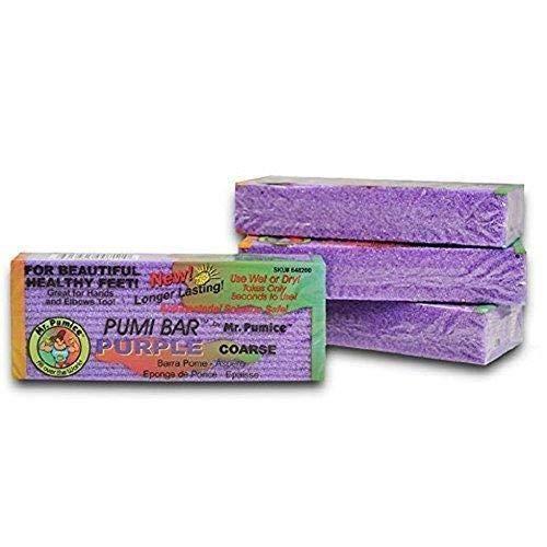 (Mr. Pumice Pumi Bar Purple - 4 Pumice Bars)