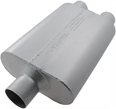 """Flowmaster 40 Series Delta Flow Muffler 2.25/"""" Center In//2.25/"""" Dual Out 9424422"""
