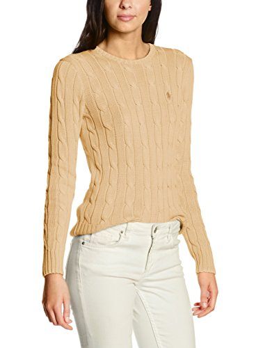 Polo Ralph Lauren Julianna Ls Swt, Suéter para Mujer Beige (NATURAL B1H16)