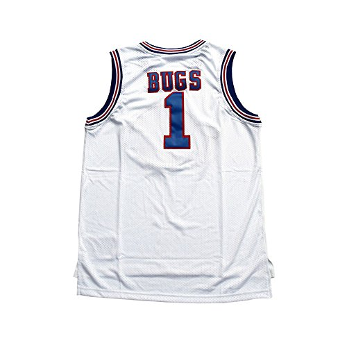 "CORESPOT Men's ""Bugs Space Jam"" #1 Basketball Jersey White Color Size S-XXXL"