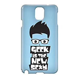 Loud Universe Samsung Galaxy Note 3 3D Wrap Around Geek is The New Sexy Print Cover - Blue