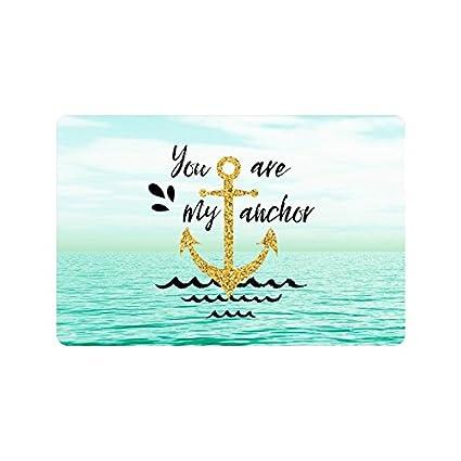 Amazon.com : InterestPrint You are My Anchor Nautical Anchor ...