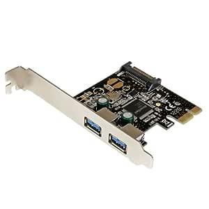 StarTech.com PEXUSB3S23 - Adaptador PCI Express PCI-E de 2 Puertos ...