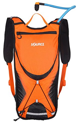 SOURCE Brisk Trinkrucksack 3l Orange/Black 2017 Outdoor-Rucksack damen herren