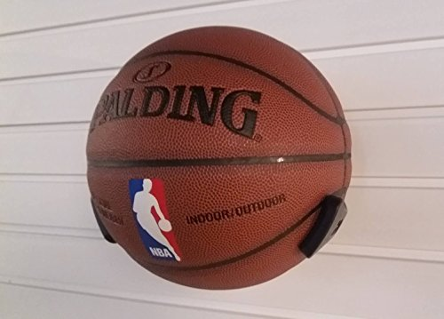 SAAINT Decorative Black Basketball Rack, Basketball Wall Hanger, Plastic Ball Claw – DiZiSports Store