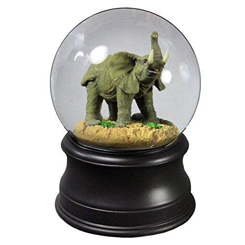The Mighty Elephant Water Globe from The San Francisco Music Box (Collectible Music Box Gift)