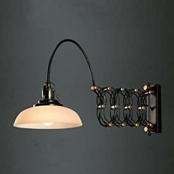 hua Antique Black Gold Jade 1 Light Wall Light with Dome Shade