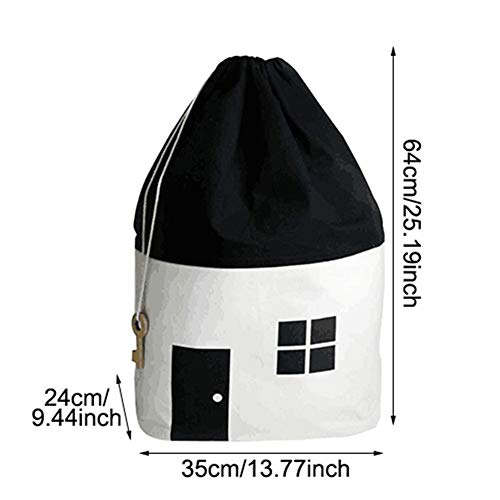 - Canvas Children Toys Storage Bags Organizer Household Laundry Clothing Drawstring Hanging Bag Accessories Supplies