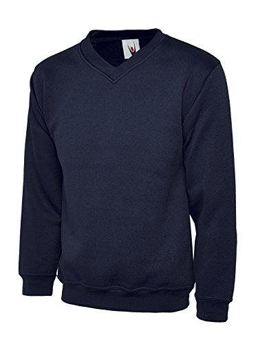 qualità qualità qualità con in blu V colore cotone XL XL XL XL misura a Unisex Premium Navy taglia Uneek poliestere S scollo UC204 EwxqCE60