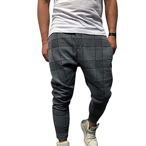 Dongwall Nuevos Pantalones Harem Casuales Impresos a Cuadros para ...