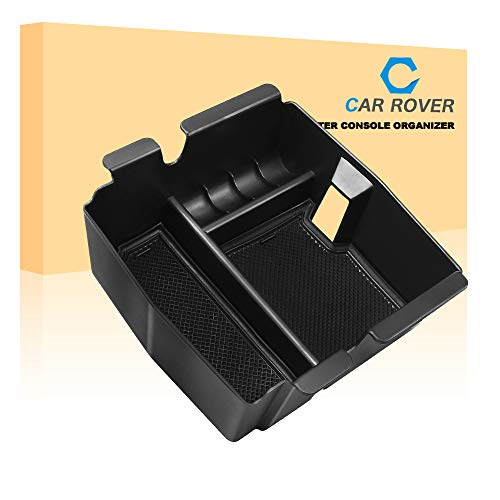 CAR ROVER Center Console Organizer Insert Tray with ABS Materials Armrest Box Secondary Storage for Jeep Wrangler JL/JLU (2018-19) Jeep Gladiator JT Truck (2020)