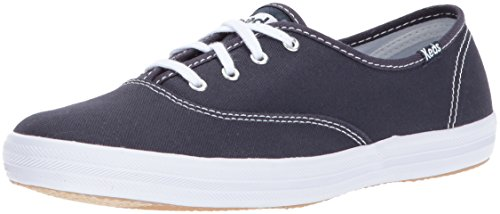 Keds Women's Champion Original Canvas Lace-Up Sneaker, Navy, 5 S US