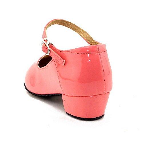 para T Dorado Oro Mujer Zapatos Q Baile Niñas para con Plano Tacón T de Z071Fqd1w