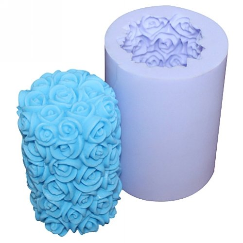 Longzang Rose S0211 Silicone Candle molds Soap mold Craft Molds DIY