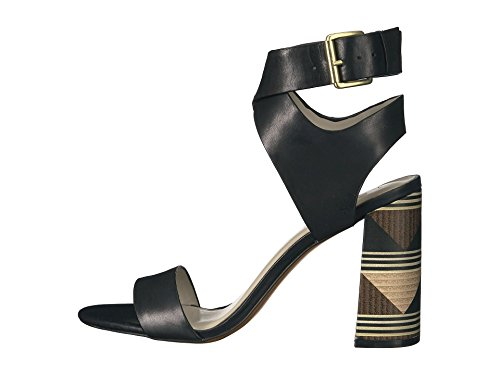 1. State Womens Rayla Leather Open Toe Casual Ankle Strap, Black, Size 8.0