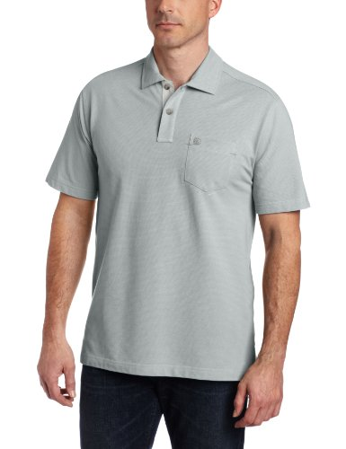 G.H. Bass & Co. Men's Short Sleeve Textured Polo, Quarry, X-Large (Bass Shirt Polo Embroidered)