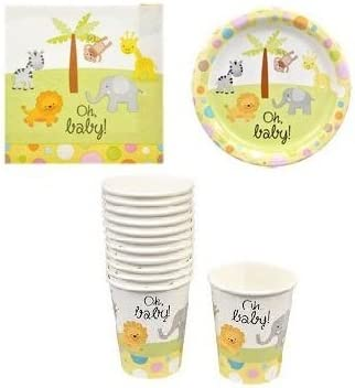 Baby Shower Plates Neutral Baby Shower Paper Party Plates New Baby Party Baby Shower Decor Gender Reveal Plates 6 Moon Paper Plates