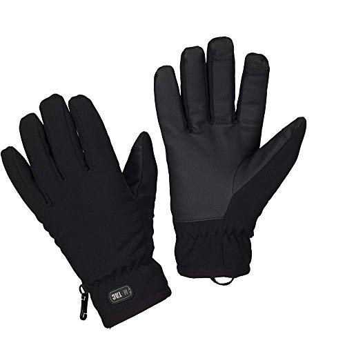 Tactical Gloves - Waterproof Gloves - Soft Shell Insulated - Army Military (Black, XL)