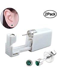 2 PCS Disposable Ear Piercing Gun, No Pain Safety Unit...