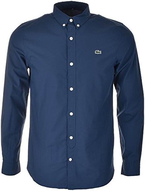 Para hombre Azul Lacoste Live camisa de manga larga Azul azul azul ...
