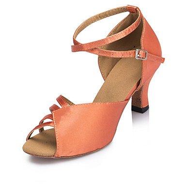 Samba Personalizado de Zapatos Swing Jazz Salsa baile Tacón Brown Personalizables Azul de Zapatos Rojo Marrón Latino 8q68zd