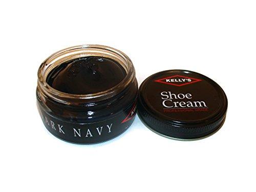 Dark Navy - Made in USA Kelly's Shoe Cream Leather Polish many colors available. (DARK NAVY)