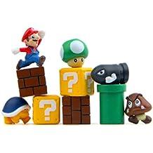 10 Piece Super Mario Bros Action Figures, Mini Super Mario Bros Figures Bundle, Birthay Cake Topper