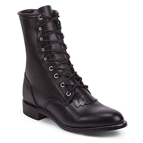 Mens 8 Justin Classic Lace - R Boots Black
