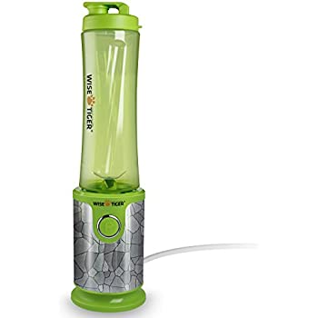 WISE TIGER Smoothie Blender Lightweight Juicer for Travel High Speed Single Serve Food Fruit Maker Mixer Kitchen Machine with Travel Sport Bottles / Cup,20 Ounces BPA Free,Very easy to Chop up Ice