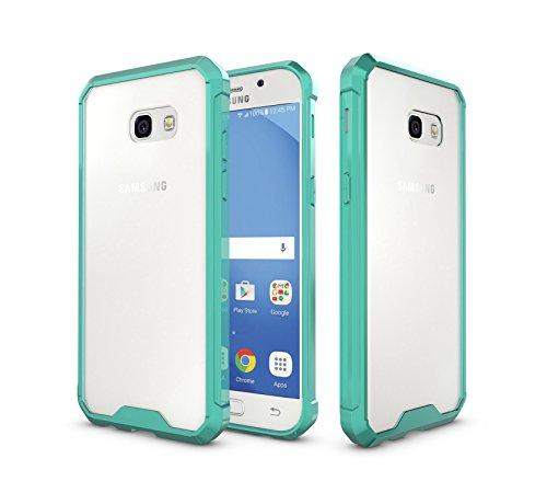 Funda Samsung Galaxy A5 2017,Fukalu Antigolpes, Resistente a los arañazos , Claro Transparente Panel Trasero Superior + TPU Bumper Cover Case Funda para Samsung Galaxy A5 2017 (Rosa) Verde