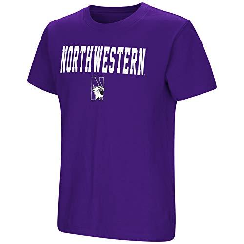 Northwestern Football Wildcats University - Colosseum NCAA Youth Boys-Talk The Talk-Cotton T-Shirt-Northwestern Wildcats-Purple-Youth Large