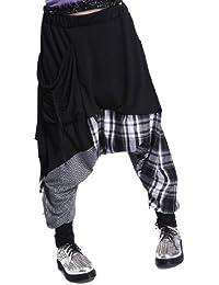Women Casual Loose Baggy Elastic Waist Harem Joggers Pants OneSize GY206 Black