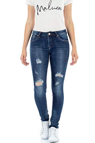Bleu malucas Bleu Jeans Skinny Bleu Femme FAnIrAxw