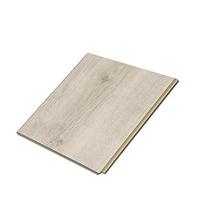 "Cali Bamboo - Cali Vinyl Plus Cork-Backed Vinyl Floor, Extra Wide, White Aspen Wood Grain - Sample Size 6"" L x 7 1/8"" W x 7mm H"