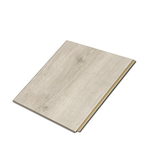 Cali Bamboo - Cali Vinyl Plus Cork-Backed Vinyl Floor, Extra Wide, White Aspen Wood Grain - Sample Size 6