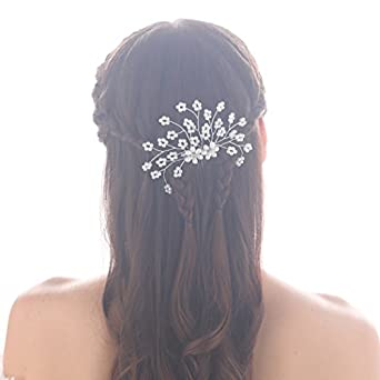 Jovono Bridal Hair Combs Hair Accessories For Women And Girls